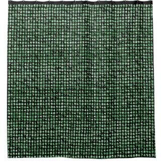 "Shower Curtain ""Pi"" green glow Var03"