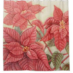 Poinsettia Shower Curtains