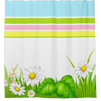 Awesome Shower Curtain/Spring Daisy Shower Curtain