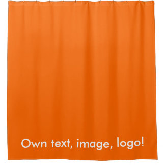 Shower Curtain uni Orange