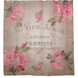 Lovely Shower Curtain Vintage Shabbychic French Rose