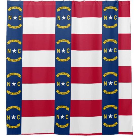 Shower Curtain with Flag of North Carolina USA