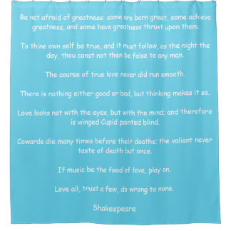 Shower Curtain with Shakespeare's Quotes