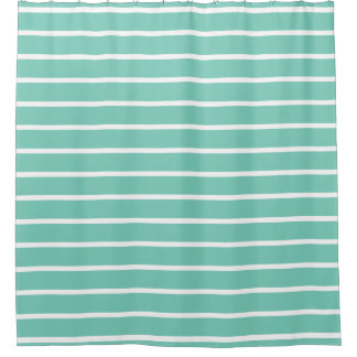 Shower Curtains - Turquoise Fashion Stripes Shower Curtain