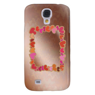 Shower Heart Garland on Golden Platter Galaxy S4 Cover