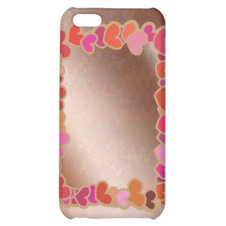 Shower Heart Garland on Golden Platter Cover For iPhone 5C