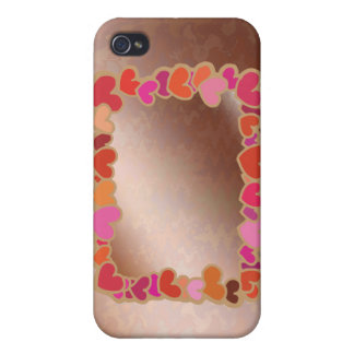 Shower Heart Garland on Golden Platter iPhone 4/4S Cases