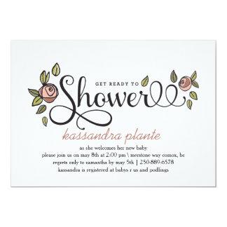"Shower 5"" X 7"" Invitation Card"