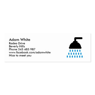 Shower Mini Business Card