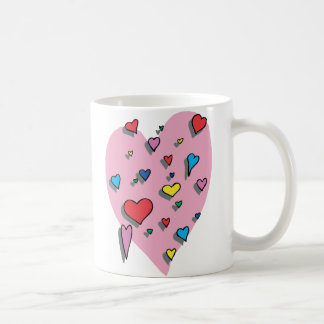 Shower of Colorful Hearts Coffee Mug