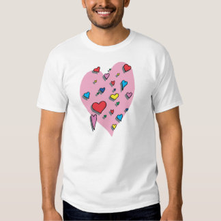 Shower of Colorful Hearts Shirt