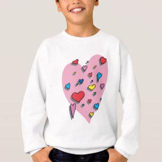 Shower of Colorful Hearts Sweatshirt