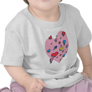 Shower of Colorful Hearts T-shirt