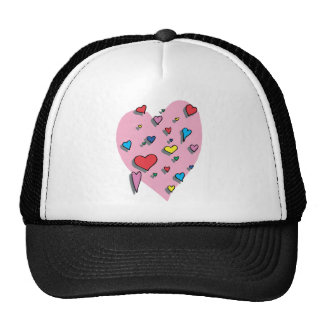 Shower of Colorful Hearts Trucker Hat