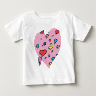 Shower of Colorful Hearts Tshirts