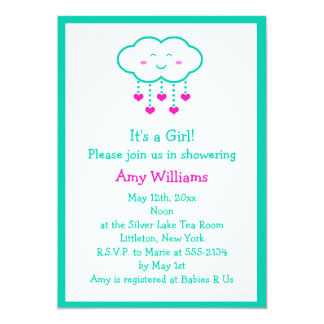Shower of Hearts Baby Shower Invitations