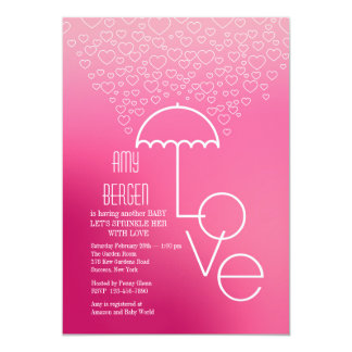 Shower of Love Pink Invitation