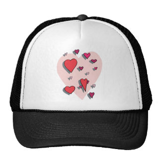 Shower of Red Hearts Trucker Hat