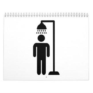 Shower person calendar