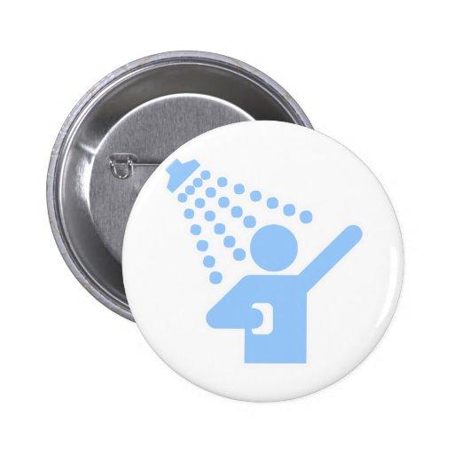 Shower Pinback Button
