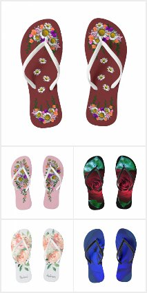 Shower Shoes Florals