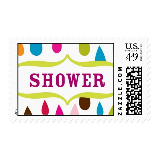 Shower Stamp Modern and Colorful