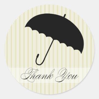 Shower Thank You Green Umbrella Sticker