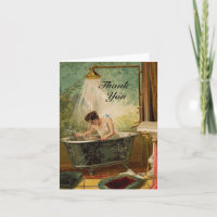 Shower the Bride Thank You Note Card