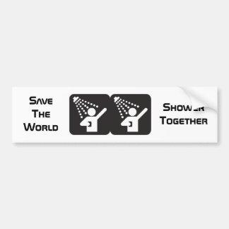 Shower Together Bumper Sticker Banner Car Bumper Sticker
