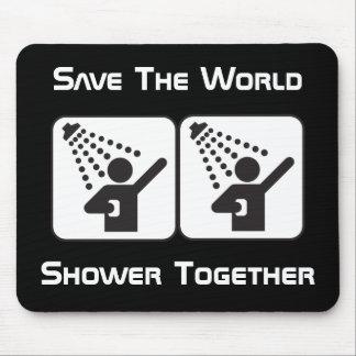 Shower Together Negative Mousepad