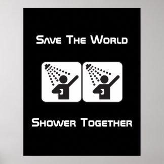 Shower Together Negative Poster