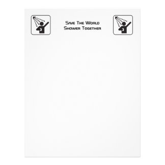 Shower Together Negative Recycled Letterhead Paper