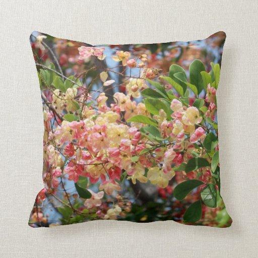 Shower Tree Blossoms Pillow