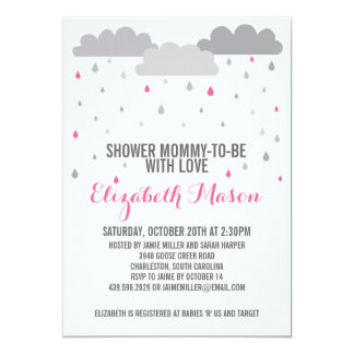 Shower with Love Baby Shower 5x7 Paper Invitation Card