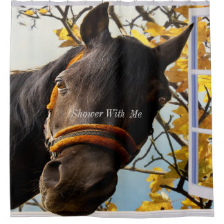 Shower With Me Quarter Horse Shower Curtain