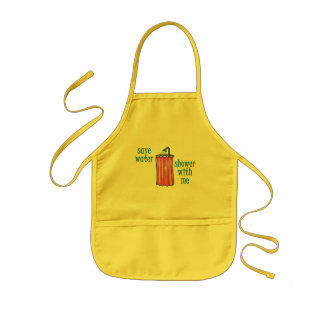 Shower with Me - Save Water Kids' Apron