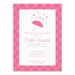 "Showered with Love- Bridal Shower Invitation 5"" X 7"" Invitation Card"