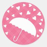 Showered with Love- Bridal Shower Sticker
