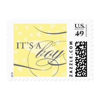 Showered with Love - It's a Boy Stamp