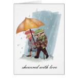 showered with love - notecard greeting card