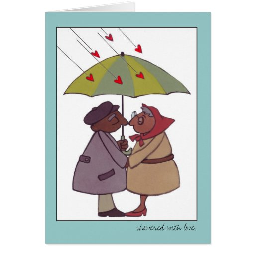 """""""showered with love"""" valentine greeting card"""