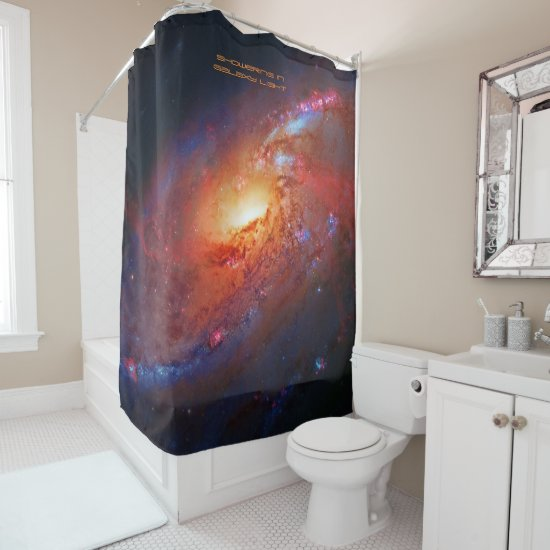 Showering in Galaxy Light to Feel Refreshed Shower Curtain