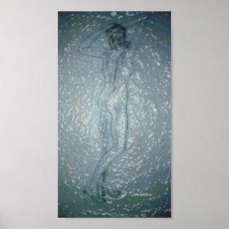 Showering Print