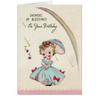 Showers Birthday Card