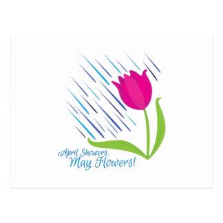 Showers Flowers Postcard