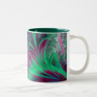 Showers of Green Two-Tone Coffee Mug