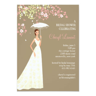 Showers of Happiness Bridal Shower  Invitation