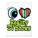 Showes televisivo brillantes de la realidad del invitación personalizada