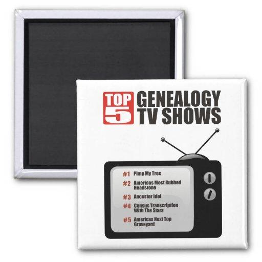 Showes televisivo de la genealogía del top 5 iman de nevera