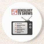 Showes televisivo de la genealogía del top 5 posavasos manualidades